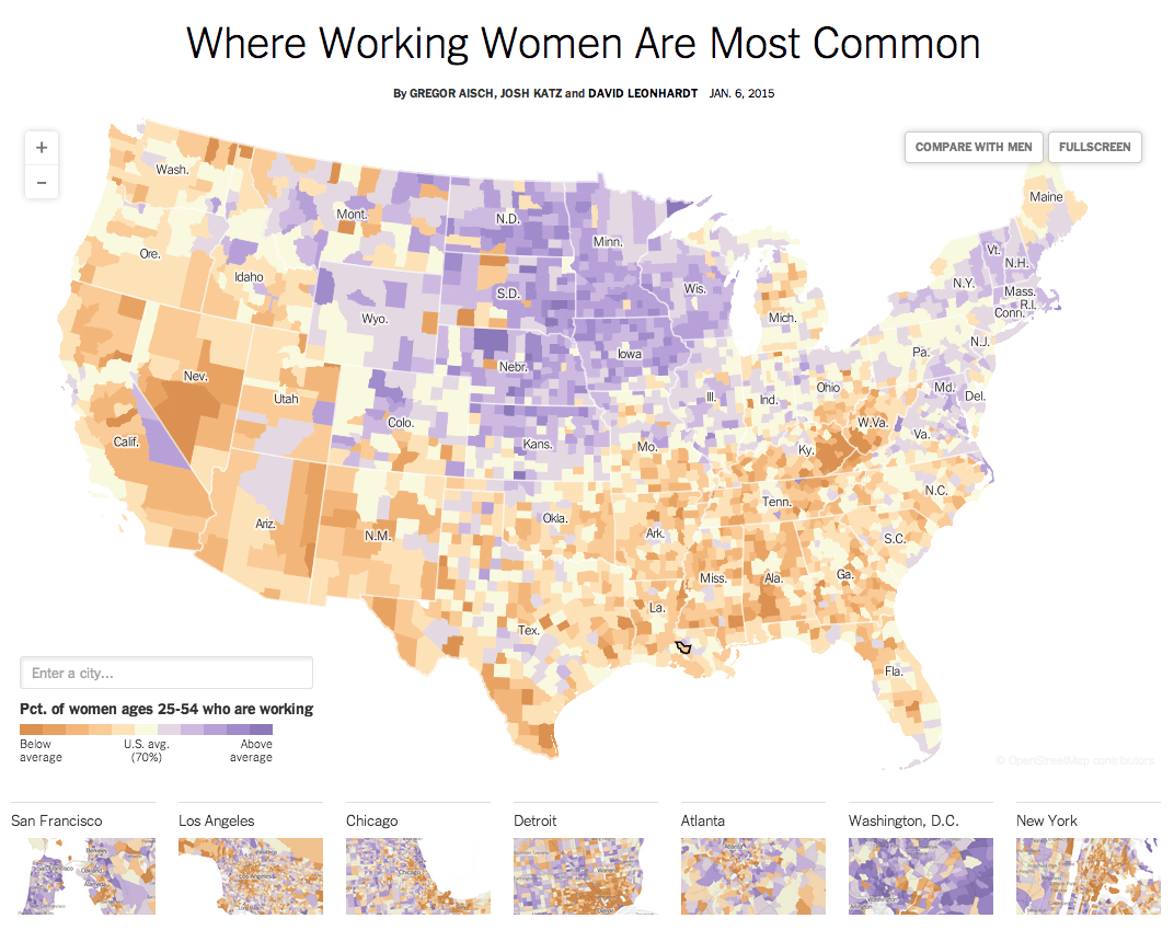 Where Working Women <br>Are Most Common